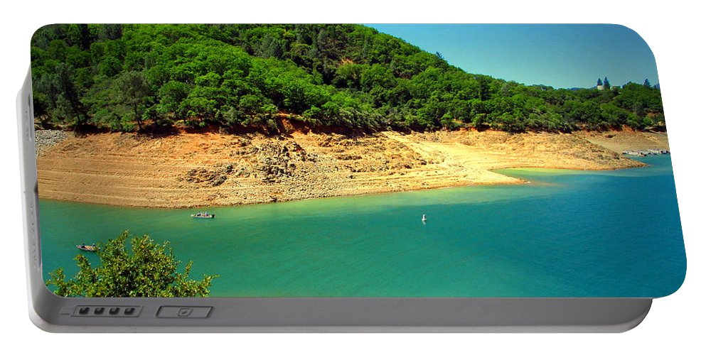 Shasta Portable Battery Charger featuring the photograph The View At Shasta Lake by Joyce Dickens