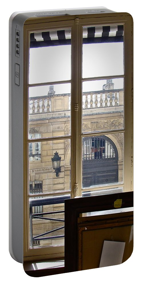 Windows And Doors Portable Battery Charger featuring the photograph The View From Across The Way by Ira Shander