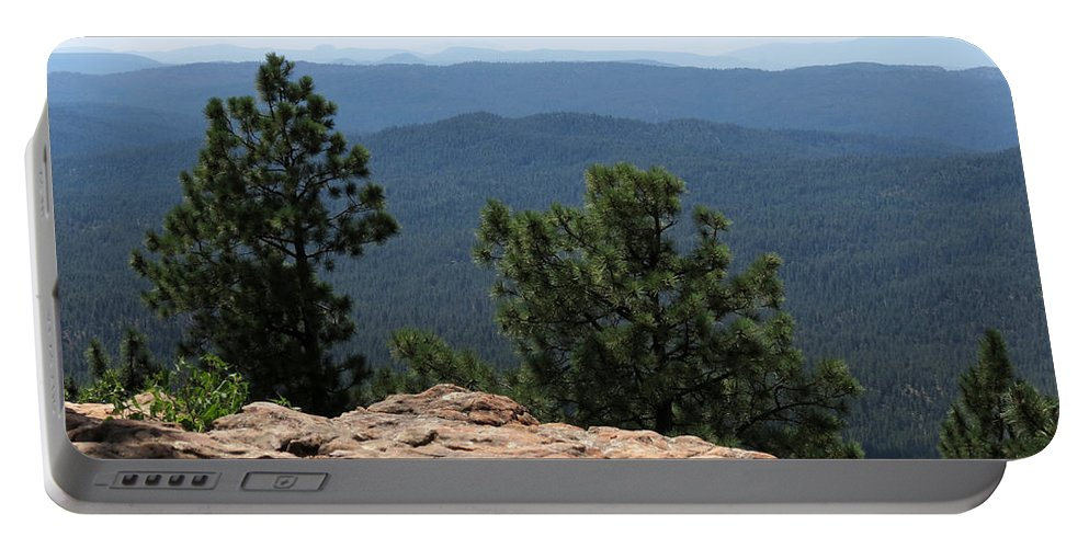 Mogollon Rim Portable Battery Charger featuring the photograph The View by Laurel Powell