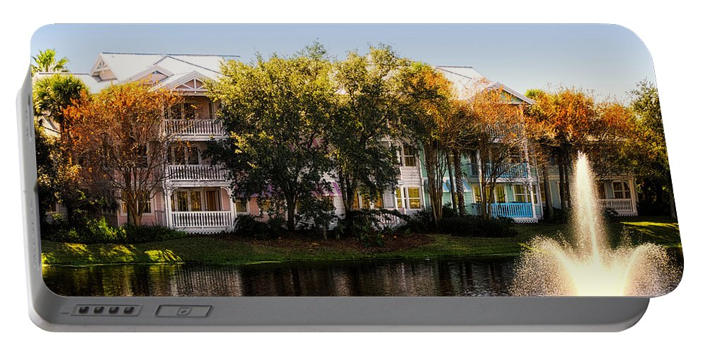 Villas Portable Battery Charger featuring the photograph The Villas Of Walt Disney World by Thomas Woolworth