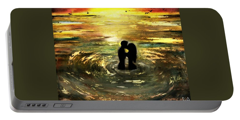 Beautiful Portable Battery Charger featuring the photograph The Vow by Artist RiA