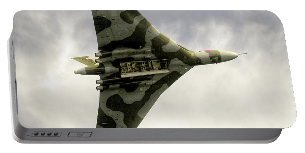 Vulcan Portable Battery Charger featuring the photograph The Vulcan Bomber by Rob Hawkins