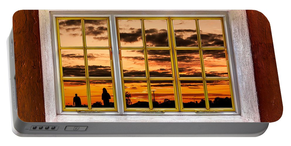 Architecture Portable Battery Charger featuring the photograph The Walk Outside by Semmick Photo