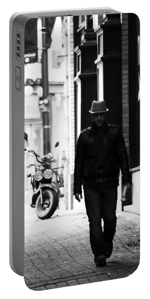 Street Photography Portable Battery Charger featuring the photograph The Wanderer by The Artist Project