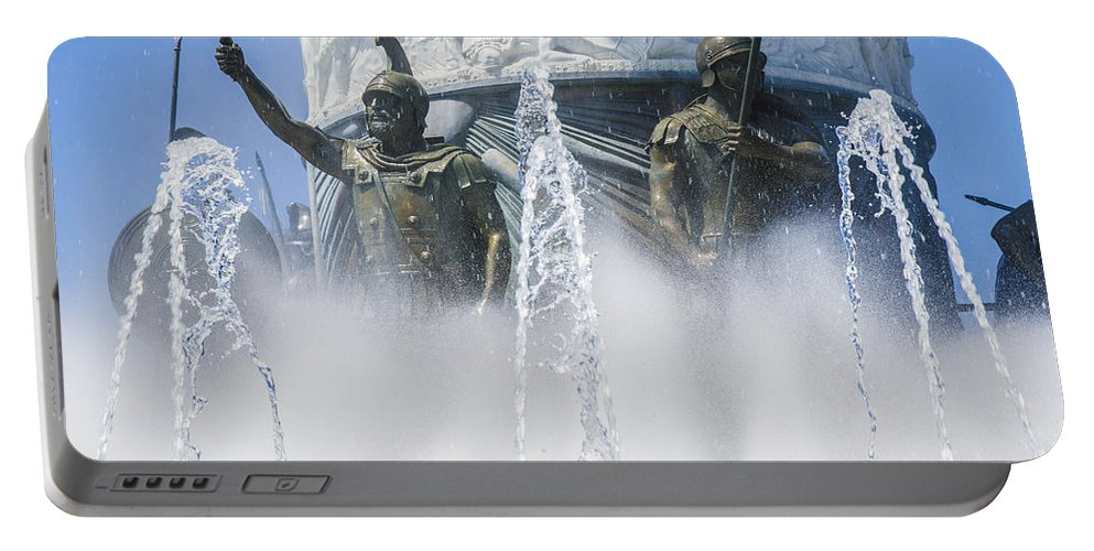 Statue Photographs Portable Battery Charger featuring the photograph The Warriors by Sotiris Filippou