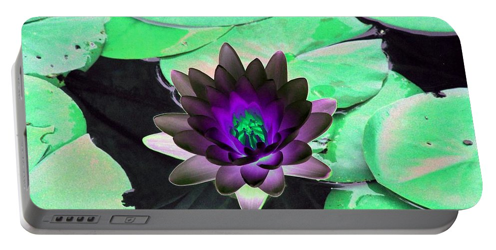 Water Lilies Portable Battery Charger featuring the photograph The Water Lilies Collection - Photopower 1113 by Pamela Critchlow