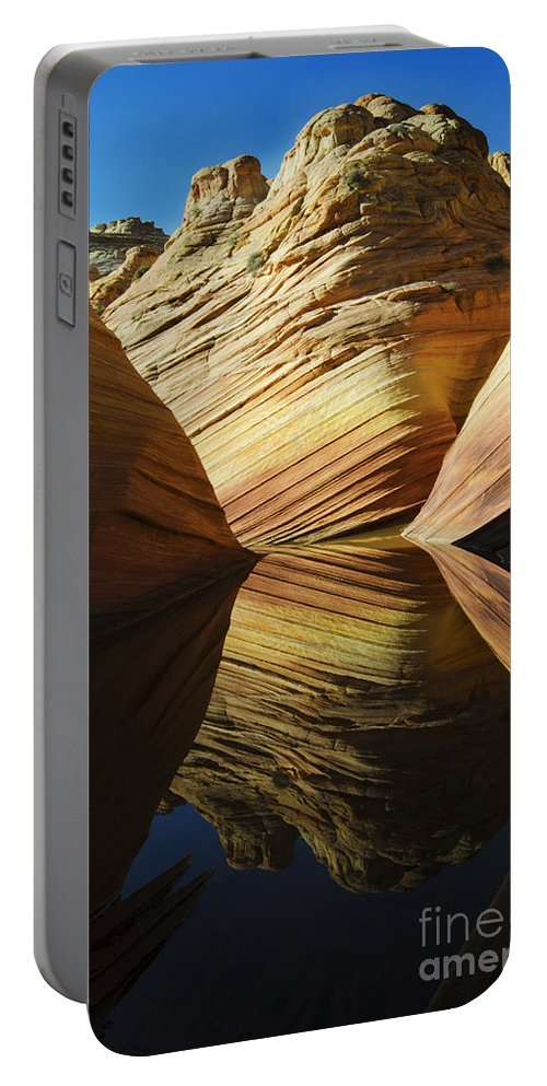 The Wave Portable Battery Charger featuring the photograph The Wave Reflected Beauty 2 by Bob Christopher