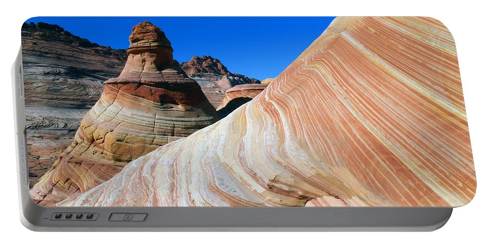 Landscape Portable Battery Charger featuring the photograph 'the Wave' North Coyote Buttes 10 by Jeff Brunton