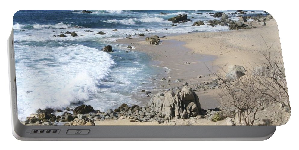 Sea Portable Battery Charger featuring the photograph The Waves - The Sea by Christy Gendalia