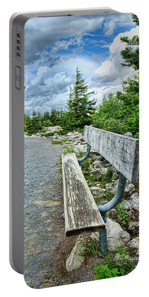 Bench Portable Battery Charger featuring the digital art The Way by Anita Hubbard