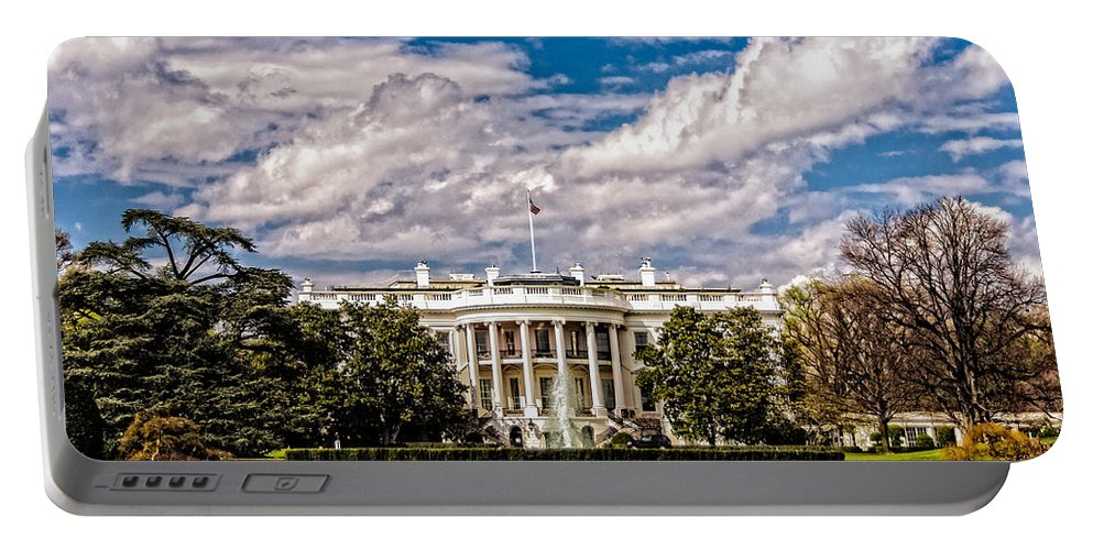 Washington Dc Portable Battery Charger featuring the photograph The White House by Christopher Holmes