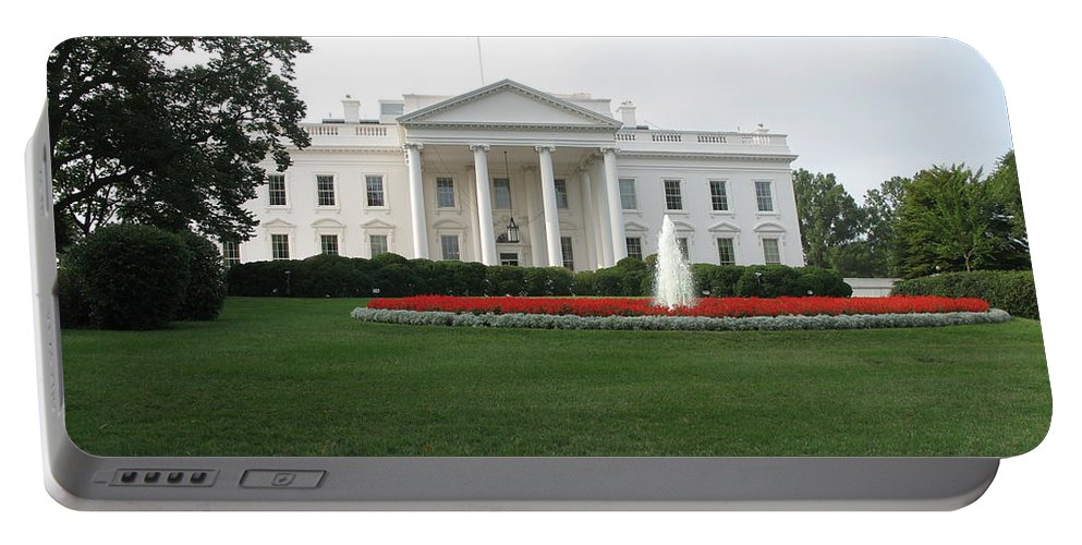 White House Portable Battery Charger featuring the photograph The White House - Washington D C by Christiane Schulze Art And Photography