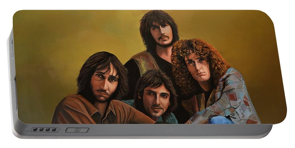 The Who Portable Battery Charger featuring the painting The Who by Paul Meijering