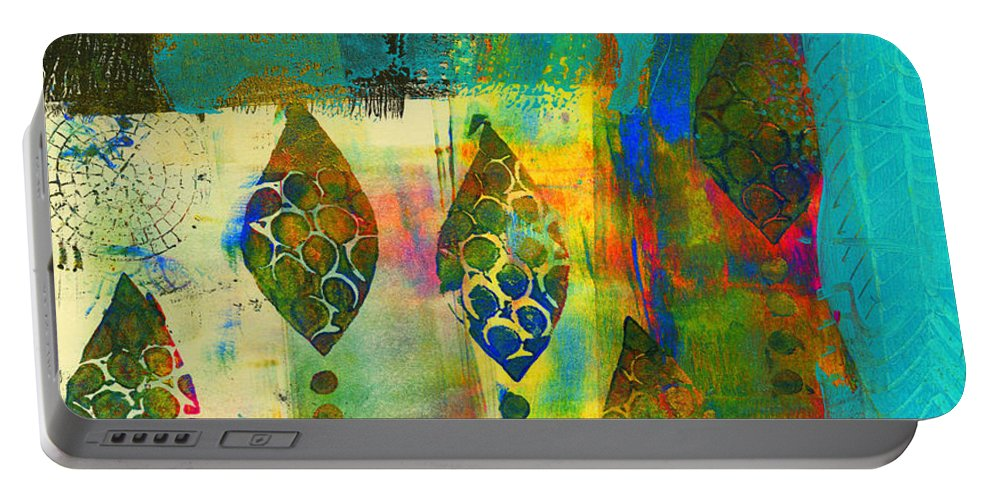 Printing Portable Battery Charger featuring the painting The Wild Ones by Angela L Walker