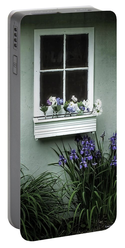 Flowers Portable Battery Charger featuring the photograph The Window Box by Lucinda Walter