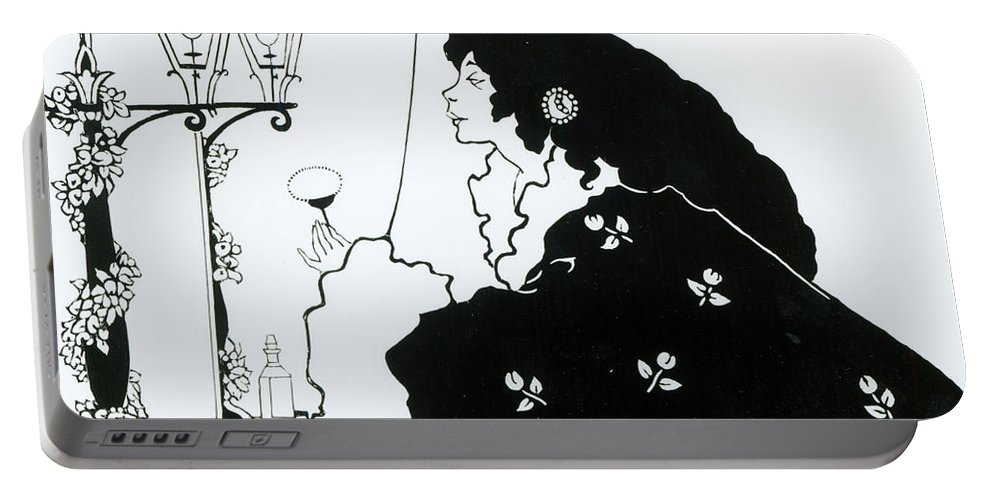 Aubrey Portable Battery Charger featuring the painting The Yellow Book by Aubrey Beardsley