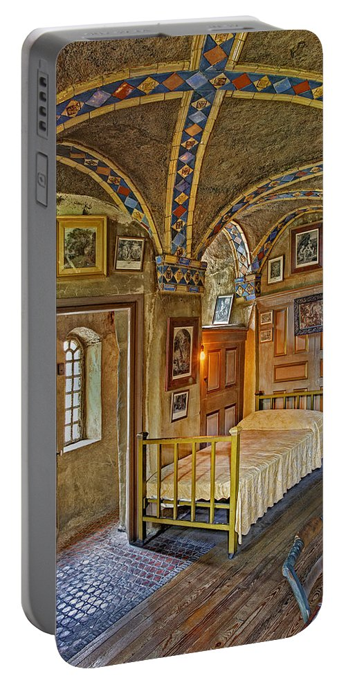 Byzantine Portable Battery Charger featuring the photograph The Yellow Room At Fonthill Castle by Susan Candelario