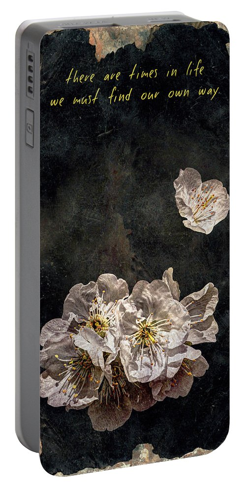 There Are Times In Life We Must Find Our Own Way Portable Battery Charger featuring the photograph There Are Times In Life We Must Find Our Own Way by Weston Westmoreland
