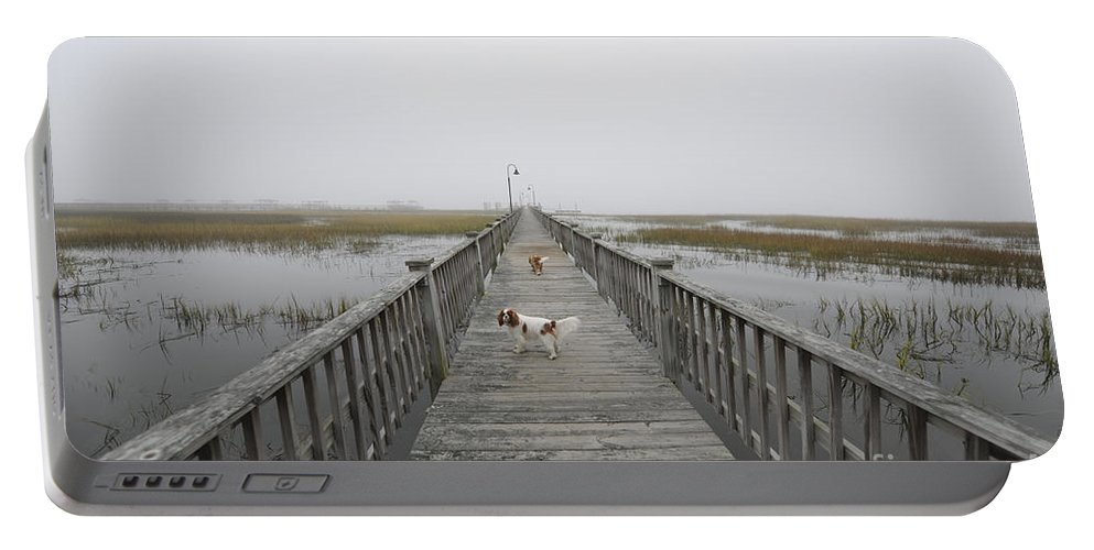Fog Portable Battery Charger featuring the photograph Thick As Peanut Butter by Dale Powell