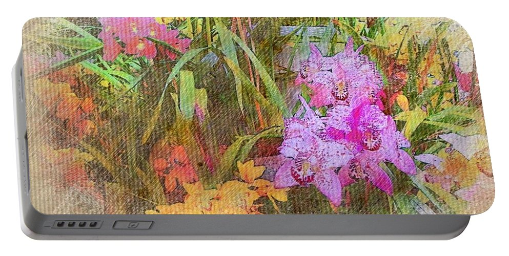 Garden Portable Battery Charger featuring the photograph Think Spring by Ellen Cannon