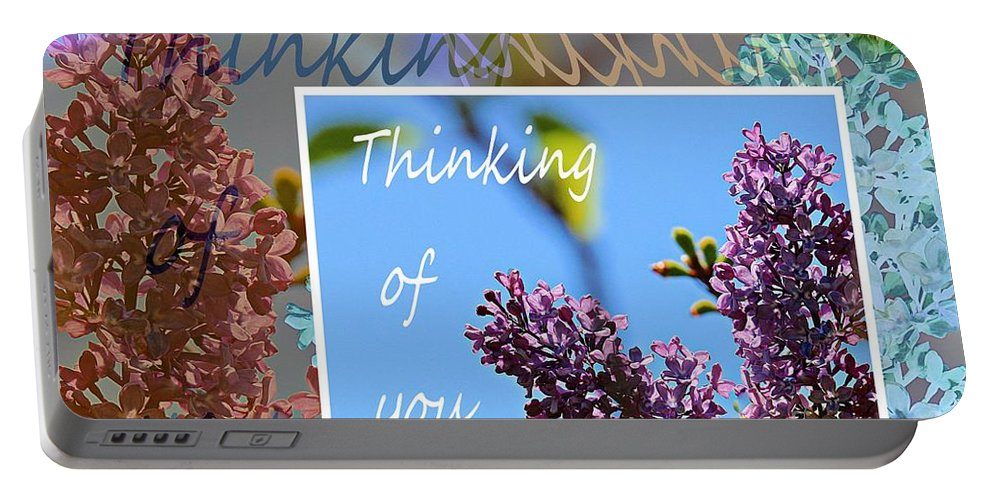 Thinking Of You Portable Battery Charger featuring the photograph Thinking Of You 2 by Barbara Griffin