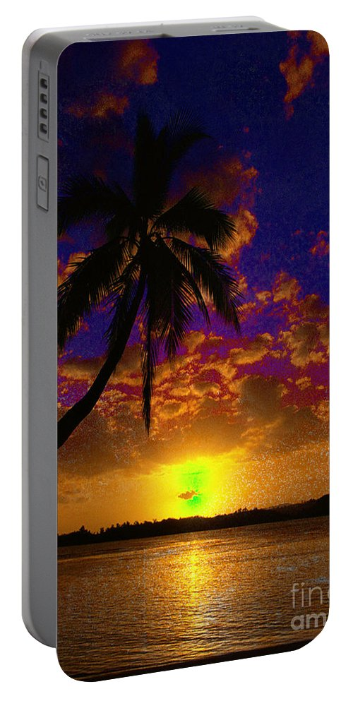 Digital Art Landscape Portable Battery Charger featuring the digital art Thinking Of You by Yael VanGruber