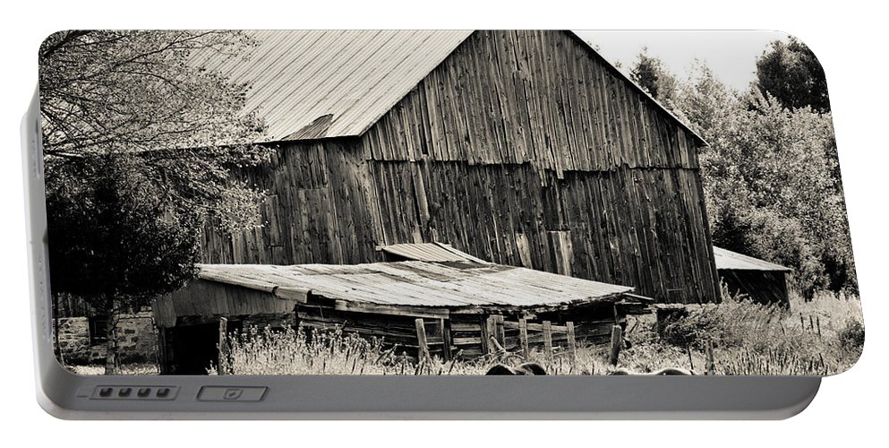 Portable Battery Charger featuring the photograph This Old Farm by Cheryl Baxter