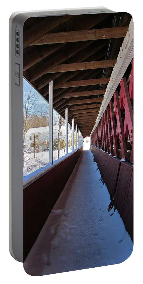 Thompson Bridge Portable Battery Charger featuring the photograph Thompson Foot Bridge by MTBobbins Photography