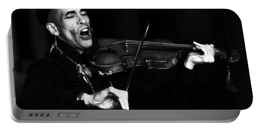 Violinist Portable Battery Charger featuring the photograph Thoth Y Violin by Alice Gipson