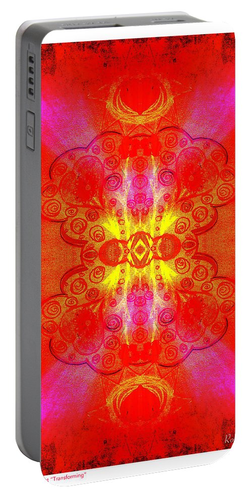 Thoughts Of Love And Light Portable Battery Charger featuring the digital art Thoughts Of Love And Light Transforming by Roxy Hurtubise