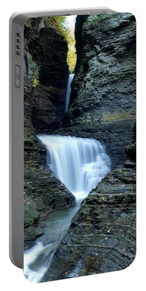 Watkins Glen Portable Battery Charger featuring the photograph Three Falls In Watkins Glen by Joshua House