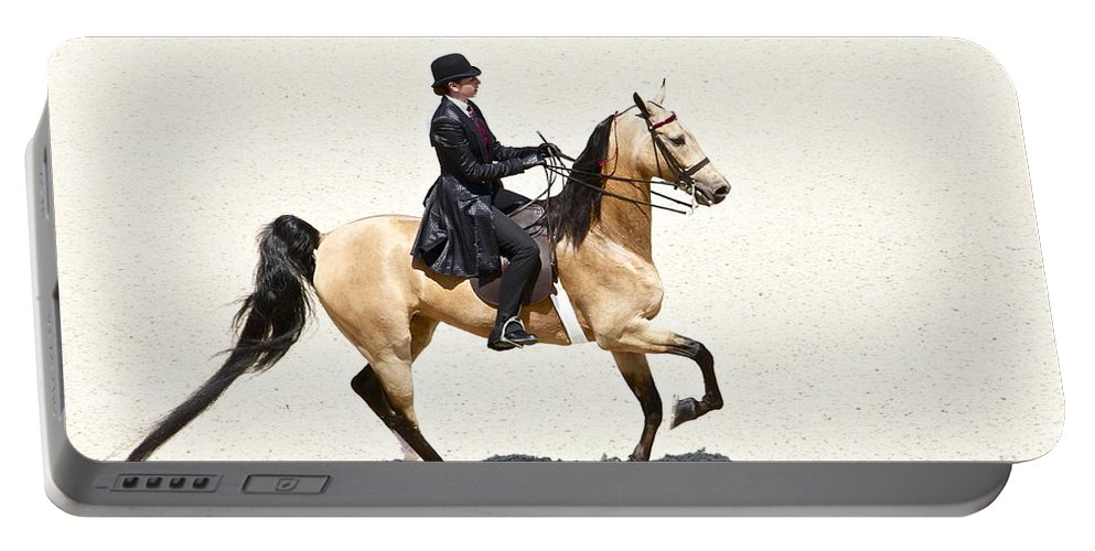 Horse Portable Battery Charger featuring the photograph Three Gaited Buckskin by Alice Gipson