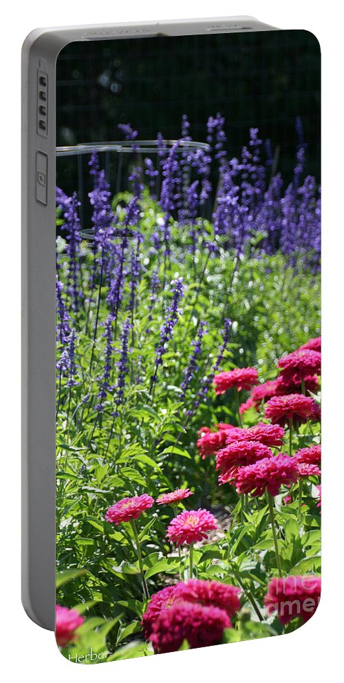 Flower Portable Battery Charger featuring the photograph Three Great Colors by Susan Herber