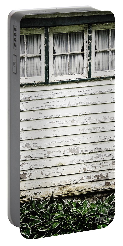 Window Portable Battery Charger featuring the photograph Three In A Row by Margie Hurwich