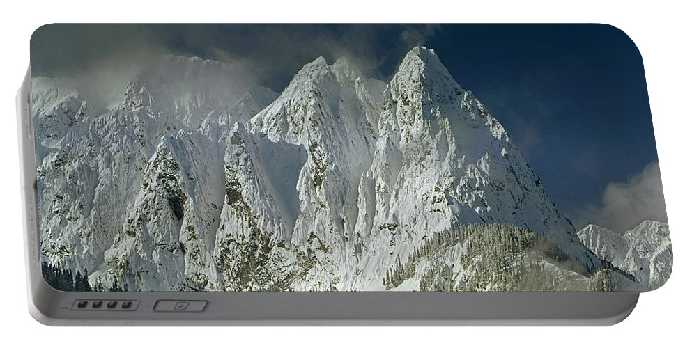 Three Peaks Portable Battery Charger featuring the photograph 1m4503-three Peaks Of Mt. Index by Ed Cooper Photography