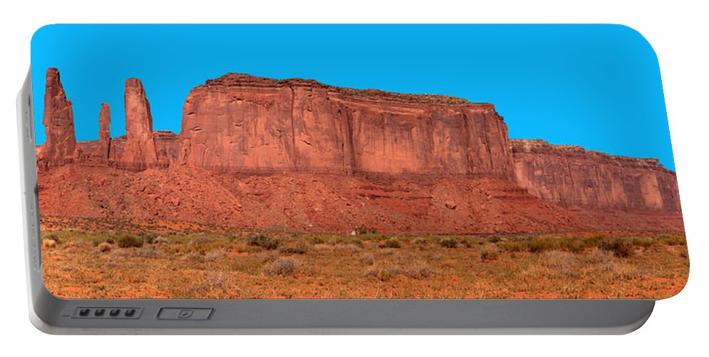 Donna Giesbrecht Portable Battery Charger featuring the photograph Three Sisters In Ut by Randy Giesbrecht