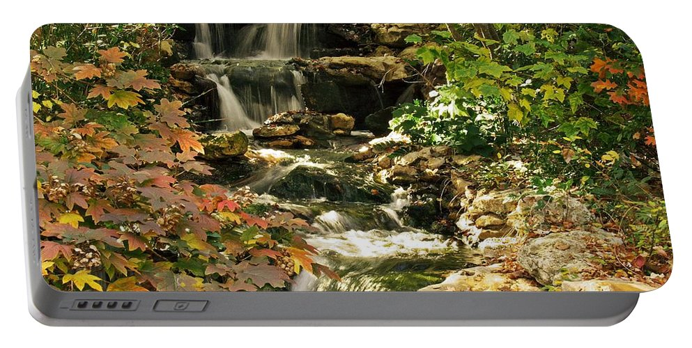 Water Flaas Portable Battery Charger featuring the photograph Three Water Falls by Robert Brown