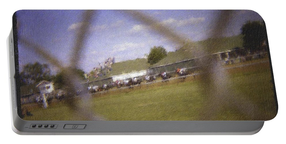 Kentucky Derby Portable Battery Charger featuring the photograph Through The Fence Pastel Chalk 2 by David Lange