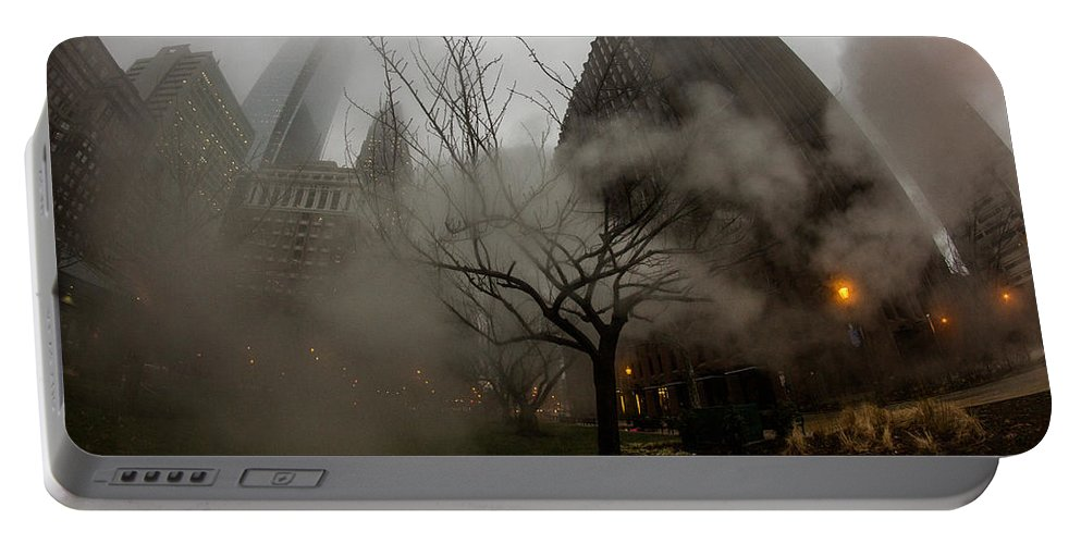 Fog Portable Battery Charger featuring the photograph Through The Fog by Kathleen Odenthal
