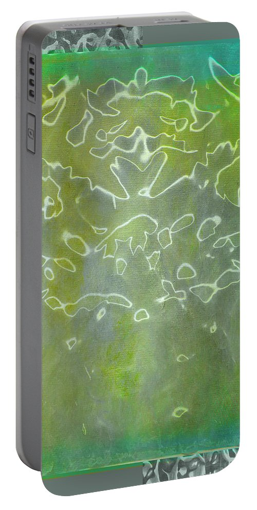 Abstract Portable Battery Charger featuring the photograph Through The Looking Glass by Linda Dunn