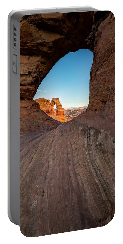 Utah Portable Battery Charger featuring the photograph Through The Needle by Dustin LeFevre