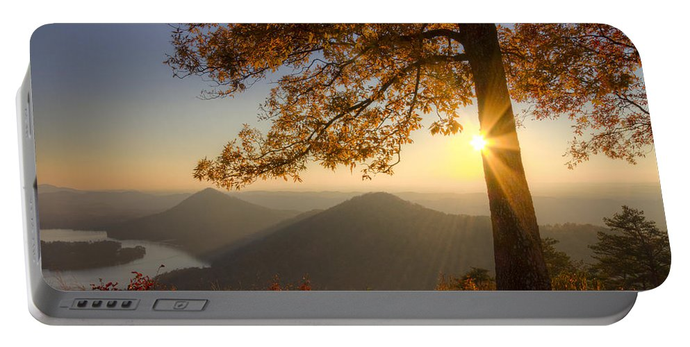 Appalachia Portable Battery Charger featuring the photograph Through The Trees by Debra and Dave Vanderlaan