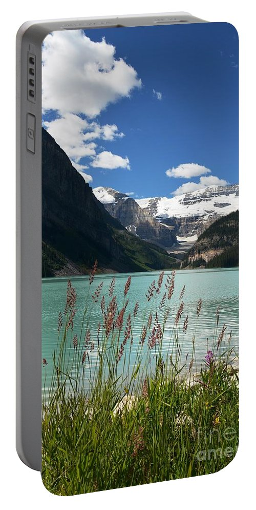 Lake Louise Portable Battery Charger featuring the photograph Through The Weeds by Deanna Cagle