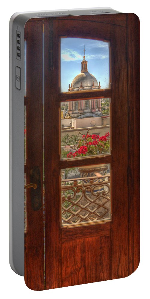 Mexico Portable Battery Charger featuring the photograph Through The Window by Lindley Johnson