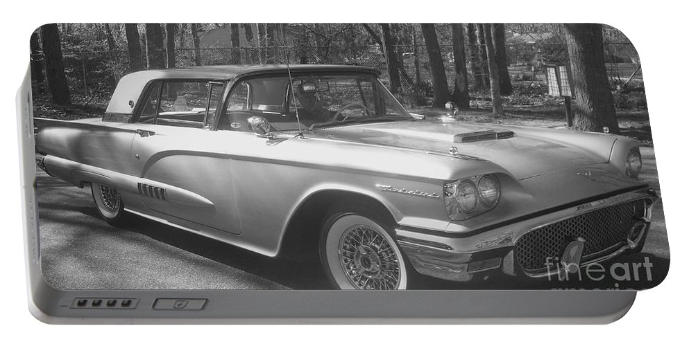 Ford Thunderbird Portable Battery Charger featuring the photograph Thunderbird by Eric Schiabor