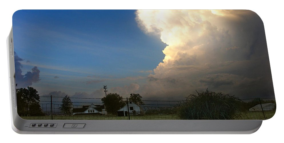 Landscape Portable Battery Charger featuring the photograph Thunderhead by Steve Karol