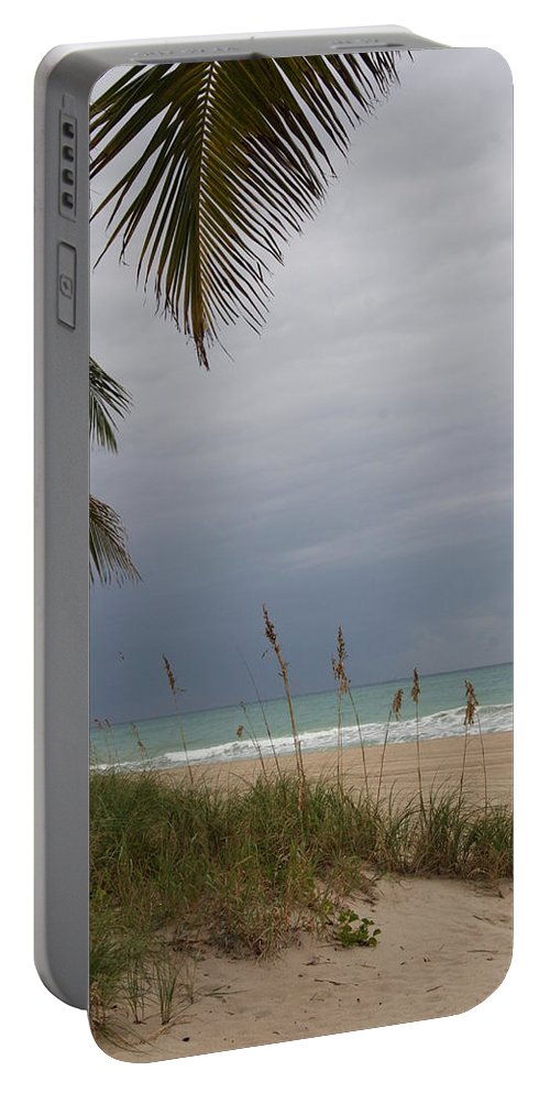 Beach Portable Battery Charger featuring the photograph Thunderstorm Sky by Christiane Schulze Art And Photography