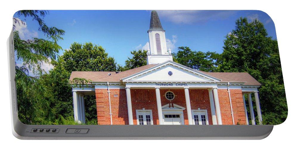 thurmond Chapel Portable Battery Charger featuring the photograph Thurmond Chapel by Cricket Hackmann