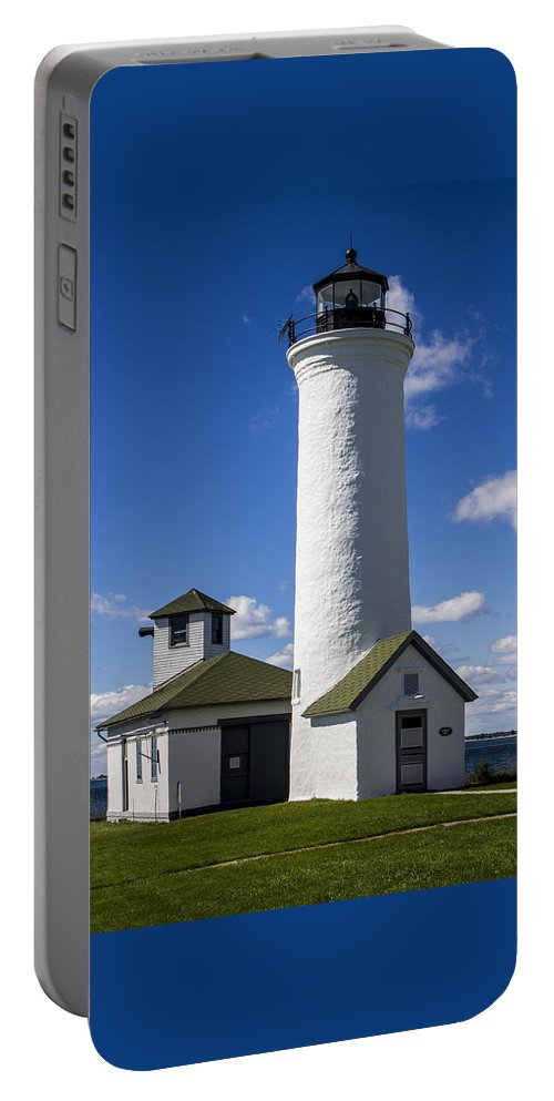 Architecture Portable Battery Charger featuring the photograph Tibbetts Point Lighthouse by Ben and Raisa Gertsberg