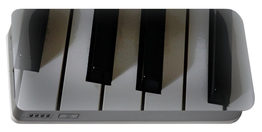 Digital Photograph Portable Battery Charger featuring the digital art Tickle The Ivories by Laurie Pike